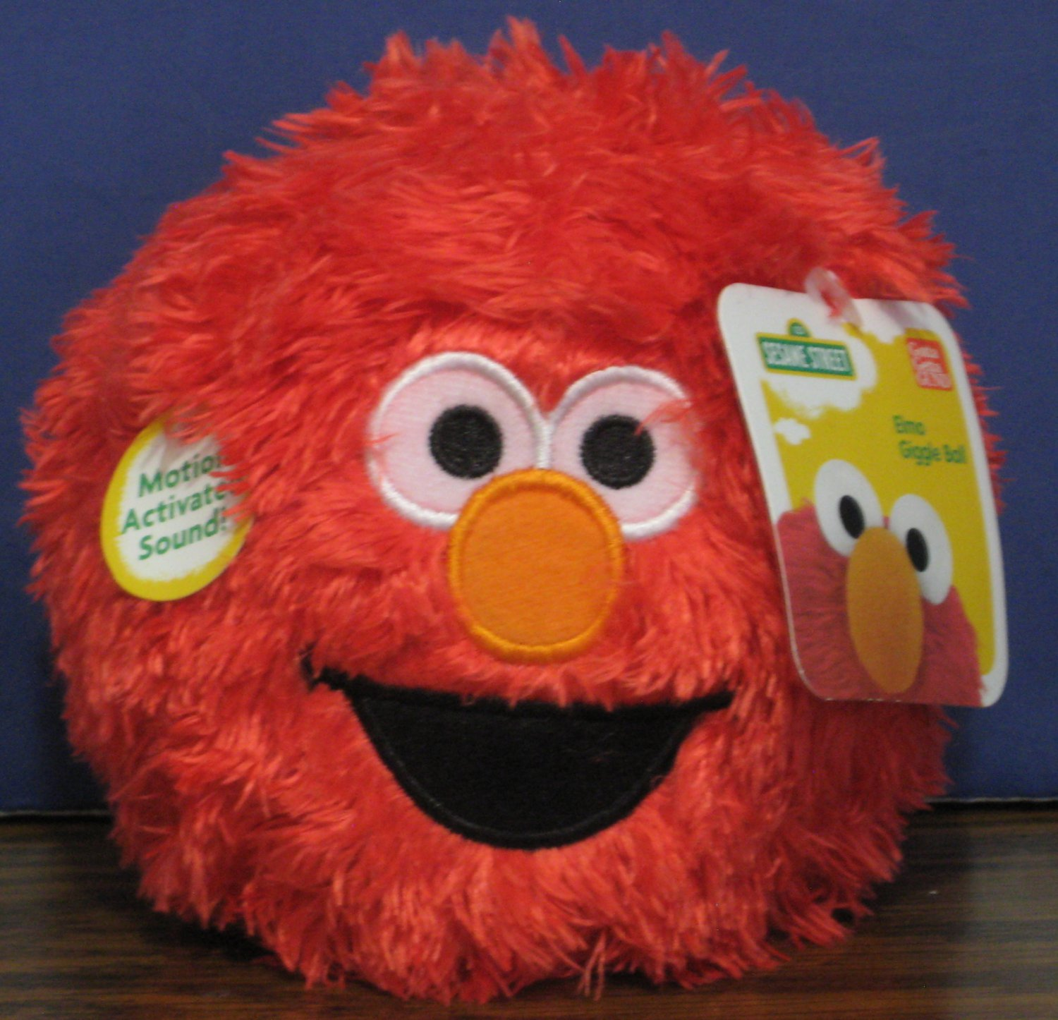"Sesame Street Elmo Monster Plush Giggle Ball 2013 Gund - 12"" Round 4.5"" High"
