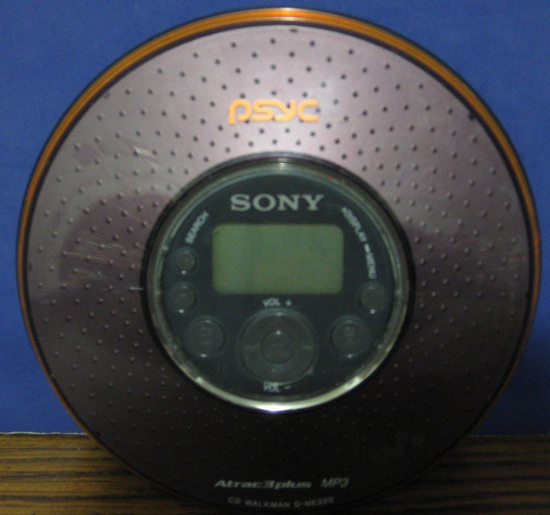 Sony Discman D-NE320 Psyc Personal MP3 CD Walkman Player Brown CD-R CD/RW Compatible