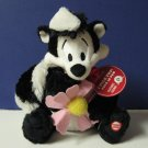 "Pepe Le Pew I Pick You Talking Plush Skunk 9"" Looney Tunes EUC With Tags"