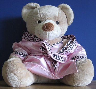 "Build a Bear Workshop 12"" Musical Plush Teddy Bear in Bath Robe - Dead Batteries"