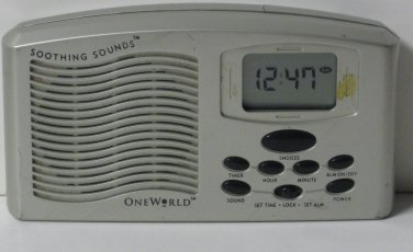 Soothing Sounds Digital LCD Alarm Clock - OneWorld / One World Cracked Housing