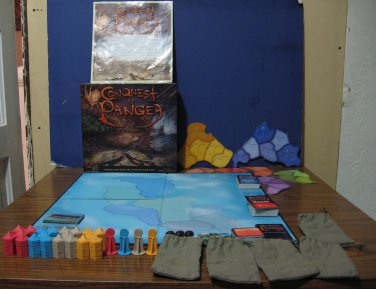 Conquest of Pangea Board Game - Immortal Eyes Games - Complete - 2006