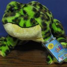 Webkinz Plush Bullfrog - HS114 - Ganz - New With Tags and Code