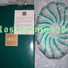 MIKASA CLEAR CRYSTAL PEPPERMINT GREEN SWEET DISH 9 1/2 ~NEW IN BOX