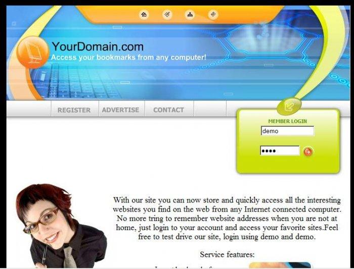 Bookmarks Website