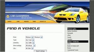Car Classifieds Website