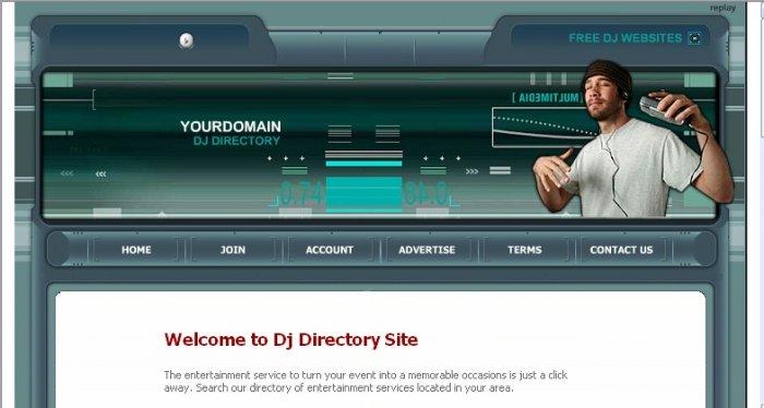 DJ Directory Website