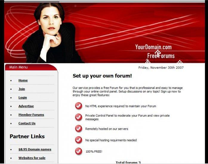 Free Forum Website