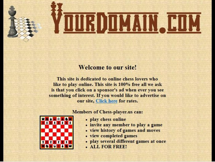 Chess Website