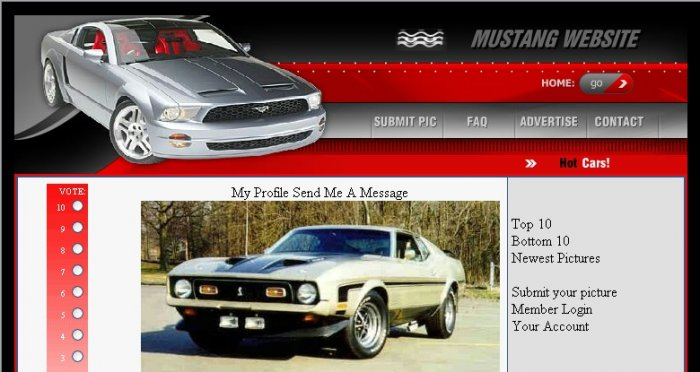 Mustang Rating Site