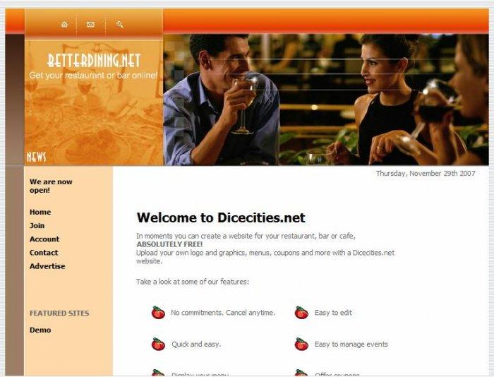 Restaurant Website 2