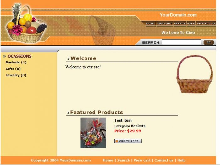 Gift Basket Website