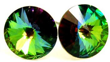 Large 10mm VITRAIL Swarovski Crystal Stud Post Earrings EA54