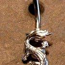 Sterling Silver Dragon Navel Belly Ring 14G BJ126