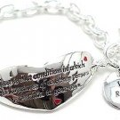 "Inspirational bracelet inscribed: ""Love is that condition in which the happiness...BR55"