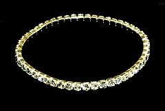 Sparkling Clear Crystal Stretch Sterling Silver Bracelet BR36