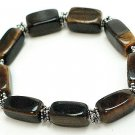 Large Genuine Tiger Eye Stones stretch bracelet BR24