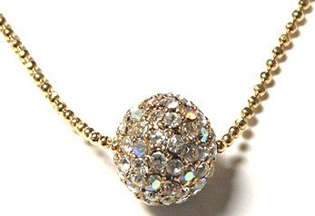 Sparkling Crystal Paved Ball Pendant NP36