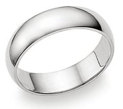 6mm Mirror Finish Plain Stainless Steel Ring SSR29