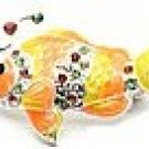 Adorable Colorful Clown Fish Crystal Brooch Pin Broach BP25