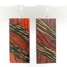 Exotic Wood Dangle Earrings 92.5 Sterling Silver Hooks EA73