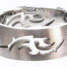 Tribal Laser Cut Satin Finish Stainless Steel Ring SSR42