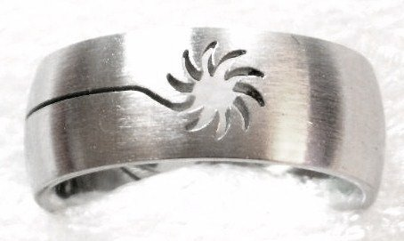 Laser Cut Sun Stainless Steel Ring SSR40