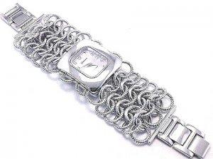 Textured Stainless Steel Chain Link Fashion Watch WW103