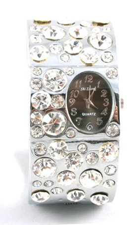 Iced Out Crystal Chunky Cuff Watch WW124