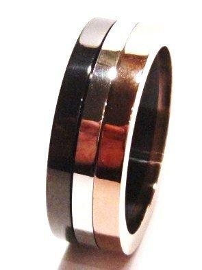 Unisex Copper Black Stainless Steel Ring SSR1026