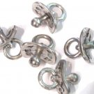 5 Adorable Baby Pacifier Pewter Charms Wholesale Lot