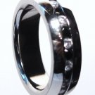 Black and Clear CZ Eternity Stainless Steel Ring SSR1040 Sz 10