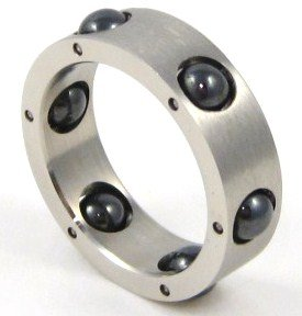 Black Spinning Balls Stainless Steel Ring SSR1817