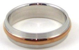 Unisex Stainless Steel Ring with Copper Band SSR1889