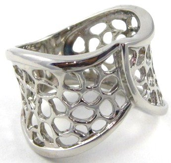 16mm Filigree High Polish Stainless Steel Ring SSR2945