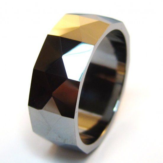 8mm High Polish Tungsten Carbide Wedding Band Ring, TU3045 Sz 12.75