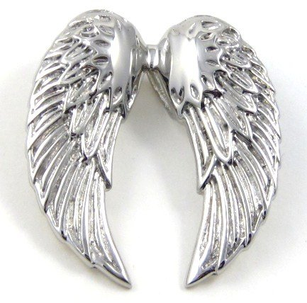 """Stunning Angel Wings Stainless Steel Pendant with FREE 20"""" SS Ball Chain SSP7258"""