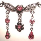 Vintage PINK Crystal Chandelier Reverse Belly Navel Ring BJ02