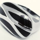 23mm Unisex Abstract Chunky Stainless Steel Statement Ring SSR1972