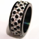 Black CZ Stainless Steel Ring SSR4617
