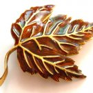 Large Colorful Autumn Leaf Crystal Brooch Pin Broach BP62-8