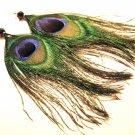 "4.5"" Fun Peacock Feather Dangle Earrings EA64"