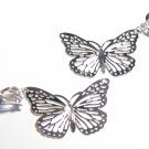 2.5 in Adorable Filigree Butterfly Clip On Earrings EA104