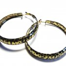 Black Gold Leopard Print Hoop Earrings EA105