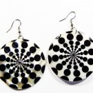 "2"" Unique Pattern Genuine Shell Dangle Earrings EA125"