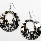 "2"" Unique Pattern Genuine Shell Dangle Earrings EA131"