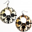 "2"" Unique Pattern Genuine Shell Dangle Earrings EA132"