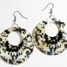 "2"" Unique Pattern Genuine Shell Dangle Earrings EA133"