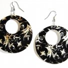 "2"" Unique Pattern Genuine Shell Dangle Earrings EA134"