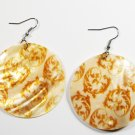 "2"" Art Deco Pattern Dangle Shell Earrings EA140"